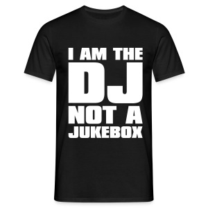 I AM THE DJ - Logo #3 - White - Men's T-Shirt