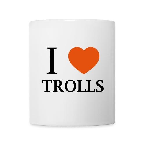 Tasse I love trolls - Mug blanc