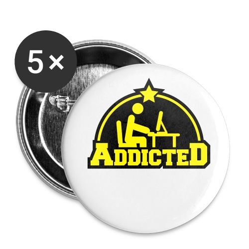 Addicted - Buttons groß 56 mm (5er Pack)