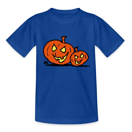 Jack-o'-lantern, two Halloween pumpkins - Teenage T-Shirt