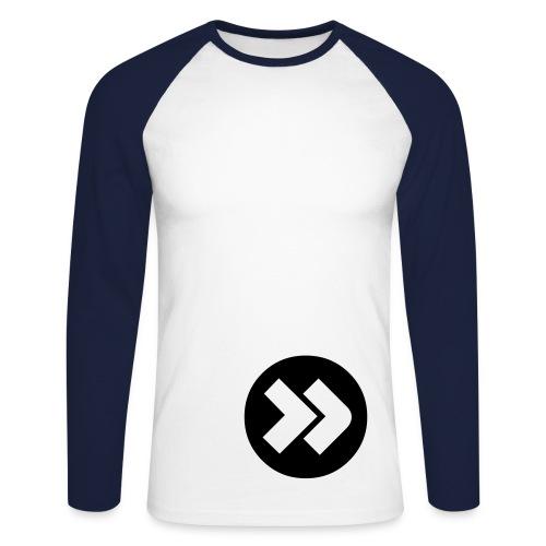 Lange mouw ( 2 b ) - Mannen baseballshirt lange mouw