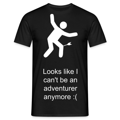 No more adventuring (male) - Men's T-Shirt
