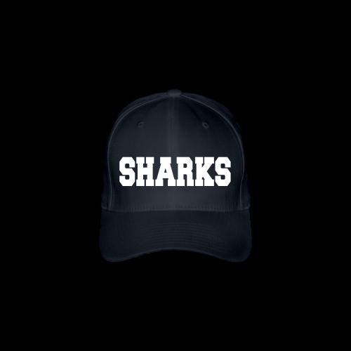Flexfit Cap Sharks (navy/weiß) - Flexfit Baseballkappe