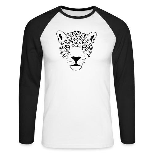 tier t-shirt jaguar puma katze gepard leopard tiger löwe raubkatze luchs wild panther - Männer Baseballshirt langarm