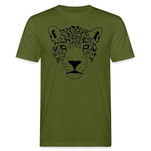 tier t-shirt jaguar puma katze gepard leopard tiger löwe raubkatze luchs wild panther - Männer Bio-T-Shirt