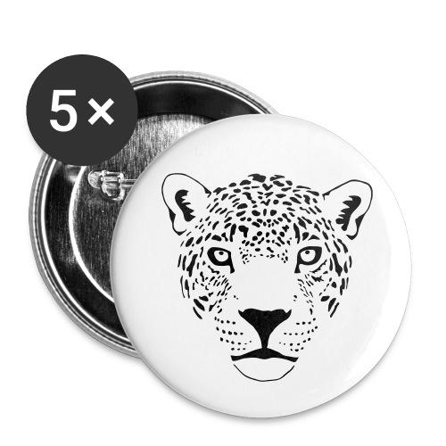 tier t-shirt jaguar puma katze gepard leopard tiger löwe raubkatze luchs wild panther - Buttons groß 56 mm