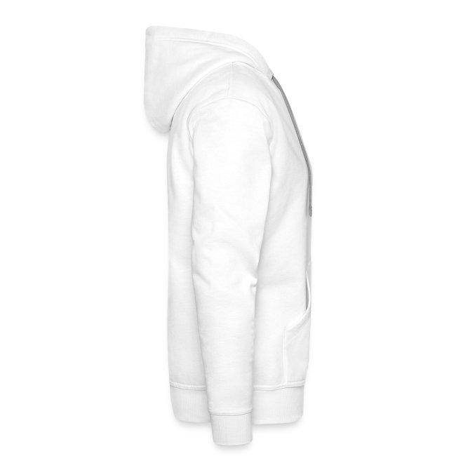 "Pull Capuche Homme - Logo OXYD ""Hardcore"" White/Black"