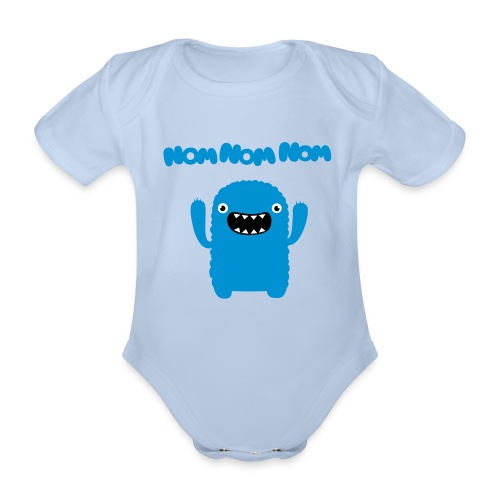 Cookie Monster Baby Shirt - Organic Short-sleeved Baby Bodysuit