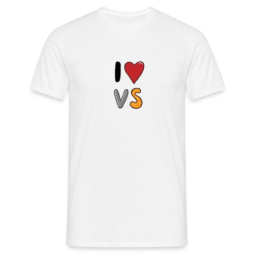 I Love VS  - Men's T-Shirt