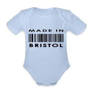 Made in Bristol barcode babies' short-sleeve vest - Organic Short-sleeved Baby Bodysuit