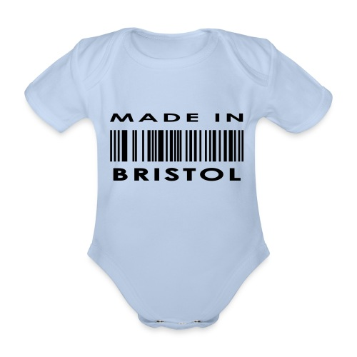 Made in Bristol barcode babies' short-sleeve vest - Organic Short-sleeved Baby Bodysuit