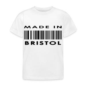 Made in Bristol barcode kid's tee - Kids' T-Shirt