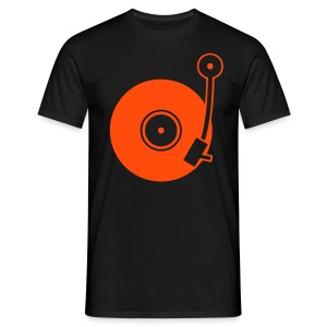 Turntable - Orange - Classic T-Shirt by B&C (Men) - Männer T-Shirt