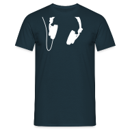 T-Shirts ~ Männer T-Shirt ~ Headphones - White - Classic T-Shirt by B&C (Men)