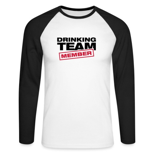 Drinking Team Member - Men's Long Sleeve Baseball T-Shirt