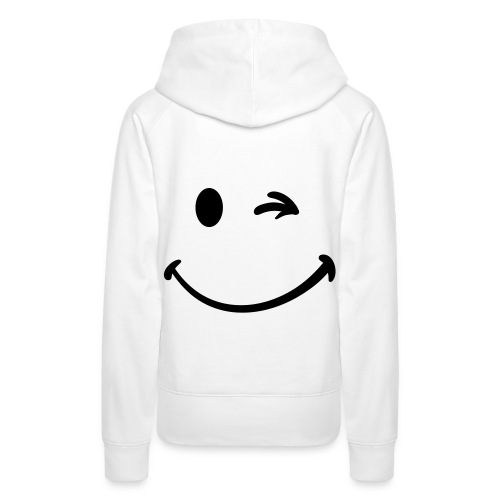 Smiley face on the back - Women's Premium Hoodie