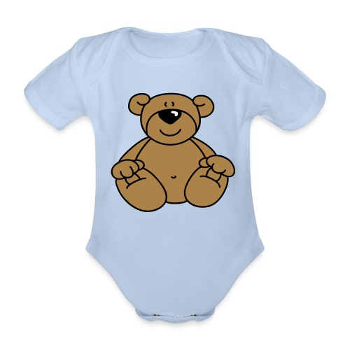 Bear Baby Grow - Organic Short-sleeved Baby Bodysuit