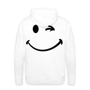 Smiley face on the back - Men's Premium Hoodie