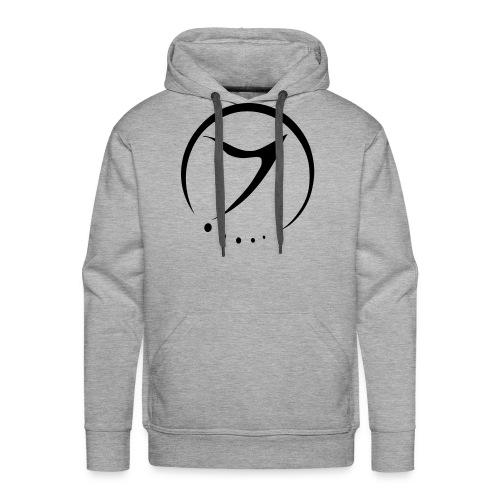 Mens Hoodie (black logo front) - Men's Premium Hoodie