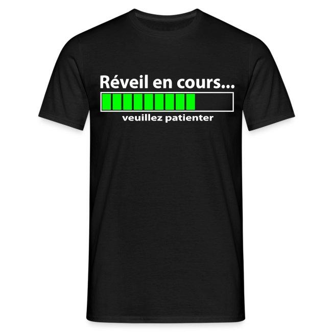 Tee-shirt Homme - Réveil en cours