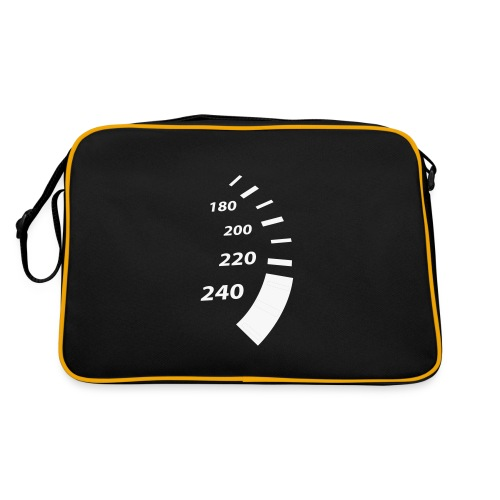 Allsorts Branded Bag with white text and white speedo - Retro Bag