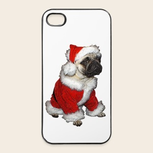 Weihnachts Mops Case - iPhone 4/4s Hard Case