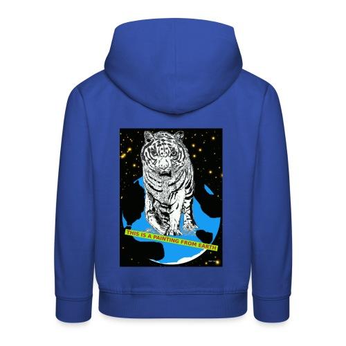 tijger kindertrui met power - Kinderen trui Premium met capuchon