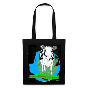 tas met koe - Tas van stof