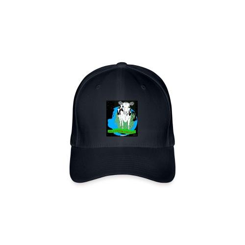 baseballcap met koe - Flexfit baseballcap