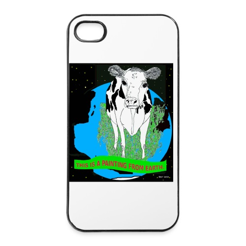 case met koe - iPhone 4/4s hard case