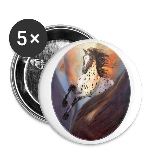 Wild Horse 2 - Buttons groß 56 mm (5er Pack)