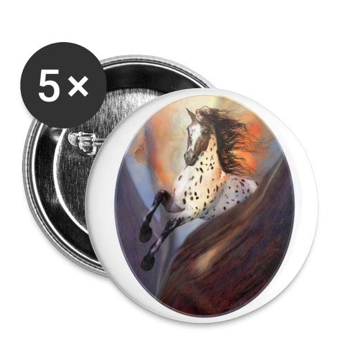 Wild Horse 2 - Buttons mittel 32 mm (5er Pack)