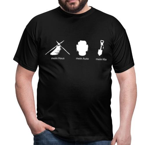 Haus Auto Klo - Männer T-Shirt