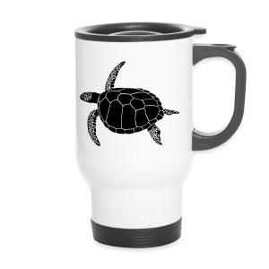 tier t-shirt meeres schildkröte sea turtle schildi meeresschildkröte tauchen taucher scuba diving - Thermobecher