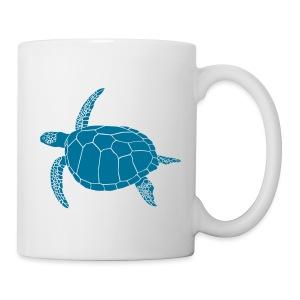 tier t-shirt meeres schildkröte sea turtle schildi meeresschildkröte tauchen taucher scuba diving - Tasse