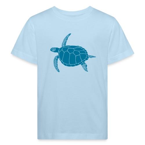 tier t-shirt meeres schildkröte sea turtle schildi meeresschildkröte tauchen taucher scuba diving - Kinder Bio-T-Shirt