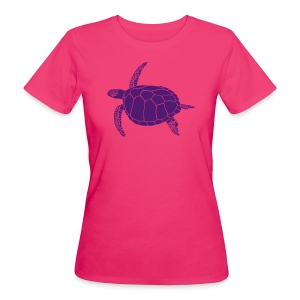 tier t-shirt meeres schildkröte sea turtle schildi meeresschildkröte tauchen taucher scuba diving - Frauen Bio-T-Shirt