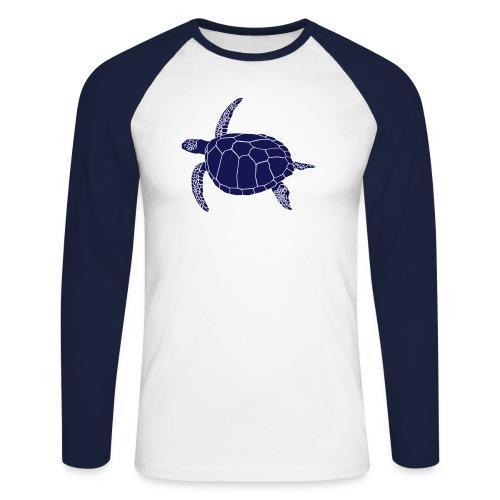 tier t-shirt meeres schildkröte sea turtle schildi meeresschildkröte tauchen taucher scuba diving - Männer Baseballshirt langarm