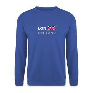 Men's Pullover LON ENGLAND white-lettered - Men's Sweatshirt