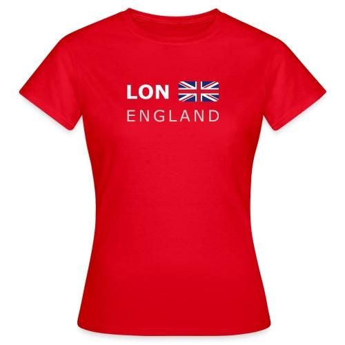 Women's T-Shirt LON ENGLAND BF white-lettered - Women's T-Shirt