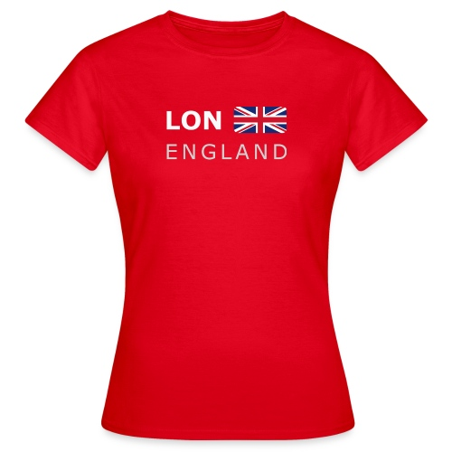Women's T-Shirt LON ENGLAND BF white-lettered - Women's T-Shirt