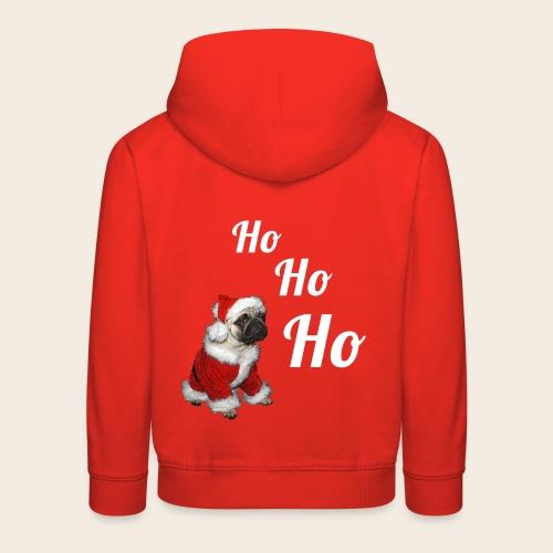 Mops Weihnachtspullover für Kinder - Kinder Premium Hoodie