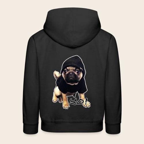 Kinder-Pullover YO! Mops  - Kinder Premium Hoodie