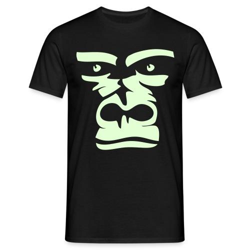 Gorilla GLOW IN THE DARK + Neckprint - Männer T-Shirt