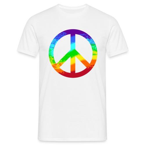 Peacezeichen - Männer T-Shirt