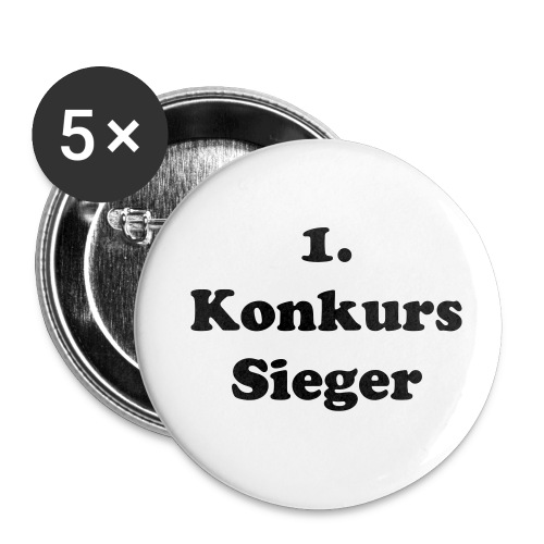 1. Konkurs Sieger - Buttons medium 32 mm