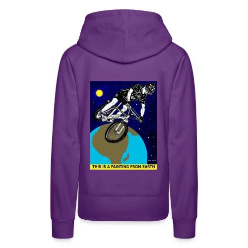 vrouwen sweater mouintainbiker - Vrouwen Premium hoodie