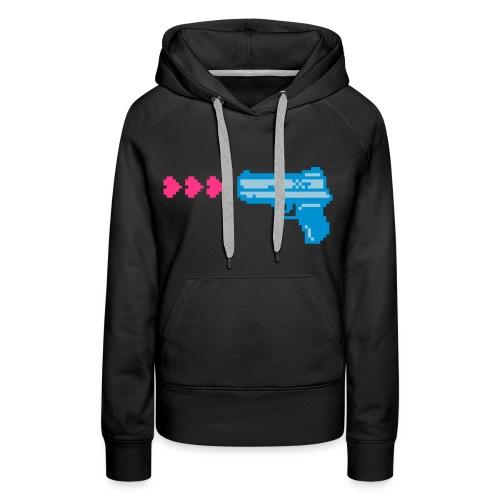 PIXELGUN hoodie black - Frauen Premium Hoodie