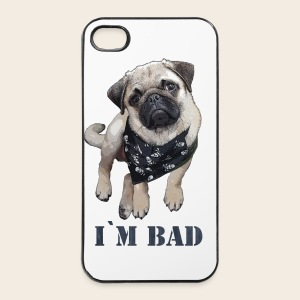 Mops Phone Case I`m Bad - iPhone 4/4s Hard Case