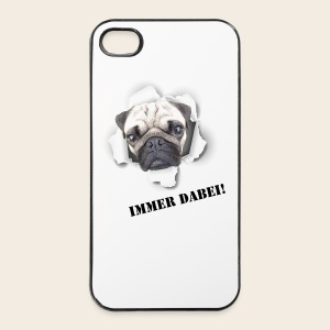 Mops Phone Case Immer Dabei - iPhone 4/4s Hard Case